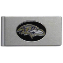 Siskiyou Buckle FBMC180 Baltimore Ravens Brushed Metal Money Clip