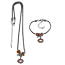 Siskiyou Buckle Chicago Bears Euro Bead Necklace and Bracelet Set, FBNK005BBR
