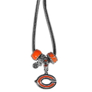 Siskiyou Buckle FBNK005 Chicago Bears Euro Bead Necklace