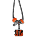 Siskiyou Buckle FBNK010 Cincinnati Bengals Euro Bead Necklace