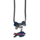 Siskiyou Buckle FBNK015 Buffalo Bills Euro Bead Necklace