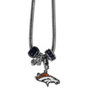 Siskiyou Buckle FBNK020 Denver Broncos Euro Bead Necklace