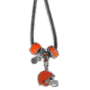 Siskiyou Buckle FBNK025 Cleveland Browns Euro Bead Necklace