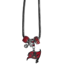 Siskiyou Buckle FBNK030 Tampa Bay Buccaneers Euro Bead Necklace
