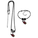 Siskiyou Buckle Arizona Cardinals Euro Bead Necklace and Bracelet Set, FBNK035BBR