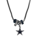 Siskiyou Buckle FBNK055 Dallas Cowboys Euro Bead Necklace
