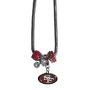 Siskiyou Buckle FBNK075 San Francisco 49ers Euro Bead Necklace
