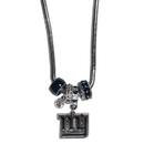 Siskiyou Buckle FBNK090 New York Giants Euro Bead Necklace