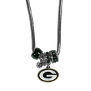 Siskiyou Buckle FBNK115 Green Bay Packers Euro Bead Necklace
