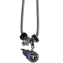 Siskiyou Buckle FBNK185 Tennessee Titans Euro Bead Necklace