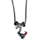 Siskiyou Buckle FBNK190 Houston Texans Euro Bead Necklace