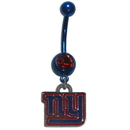 Siskiyou Buckle FBNR090 New York Giants Navel Ring