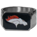 Siskiyou Buckle FBOR020-10 Denver Broncos Steel Ring