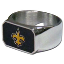 Siskiyou Buckle FBOR150-10 New Orleans Saints Steel Ring