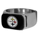 Siskiyou Buckle FBOR160-13 Pittsburgh Steelers Steel Ring