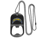 Siskiyou Buckle FBTN040 San Diego Chargers Bottle Opener Tag Necklace