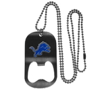 Siskiyou Buckle FBTN105 Detroit Lions Bottle Opener Tag Necklace