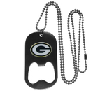 Siskiyou Buckle FBTN115 Green Bay Packers Bottle Opener Tag Necklace