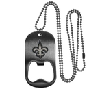 Siskiyou Buckle FBTN150 New Orleans Saints Bottle Opener Tag Necklace