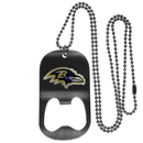 Siskiyou Buckle Baltimore Ravens Bottle Opener Tag Necklace, FBTN180