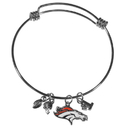 Siskiyou Buckle Denver Broncos Charm Bangle Bracelet, FCBB020