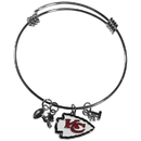 Siskiyou Buckle Kansas City Chiefs Charm Bangle Bracelet, FCBB045