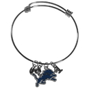 Siskiyou Buckle Detroit Lions Charm Bangle Bracelet, FCBB105