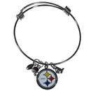 Siskiyou Buckle Pittsburgh Steelers Charm Bangle Bracelet, FCBB160