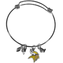 Siskiyou Buckle Minnesota Vikings Charm Bangle Bracelet, FCBB165