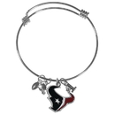 Siskiyou Buckle Houston Texans Charm Bangle Bracelet, FCBB190