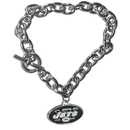 Siskiyou Buckle FCBR100 New York Jets Charm Chain Bracelet