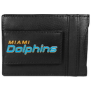 Siskiyou Buckle FCCP060 Miami Dolphins Logo Leather Cash and Cardholder
