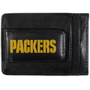 Siskiyou Buckle FCCP115 Green Bay Packers Logo Leather Cash and Cardholder