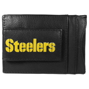 Siskiyou Buckle FCCP160 Pittsburgh Steelers Logo Leather Cash and Cardholder