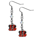 Siskiyou Buckle FCE010 Cincinnati Bengals Crystal Dangle Earrings