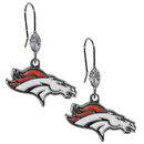 Siskiyou Buckle FCE020 Denver Broncos Crystal Dangle Earrings