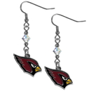 Siskiyou Buckle FCE035 Arizona Cardinals Crystal Dangle Earrings