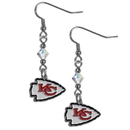 Siskiyou Buckle FCE045 Kansas City Chiefs Crystal Dangle Earrings