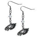 Siskiyou Buckle FCE065 Philadelphia Eagles Crystal Dangle Earrings