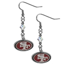 Siskiyou Buckle FCE075 San Francisco 49ers Crystal Dangle Earrings