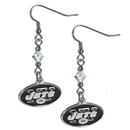 Siskiyou Buckle FCE100 New York Jets Crystal Dangle Earrings