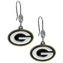 Siskiyou Buckle FCE115 Green Bay Packers Crystal Dangle Earrings
