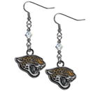 Siskiyou Buckle FCE175 Jacksonville Jaguars Crystal Dangle Earrings
