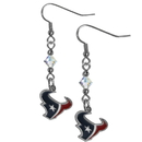 Siskiyou Buckle FCE190 Houston Texans Crystal Dangle Earrings