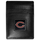 Siskiyou Buckle FCH005 Chicago Bears Leather Money Clip/Cardholder Packaged in Gift Box
