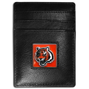 Siskiyou Buckle FCH010 Cincinnati Bengals Leather Money Clip/Cardholder Packaged in Gift Box