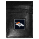 Siskiyou Buckle FCH020 Denver Broncos Leather Money Clip/Cardholder Packaged in Gift Box