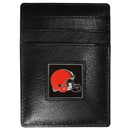 Siskiyou Buckle FCH025BX Cleveland Browns Leather Money Clip/Cardholder