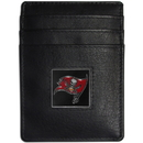 Siskiyou Buckle FCH030 Tampa Bay Buccaneers Leather Money Clip/Cardholder Packaged in Gift Box