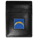 Siskiyou Buckle FCH040 San Diego Chargers Leather Money Clip/Cardholder Packaged in Gift Box